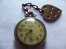 Open Face Pocket Watch Antique Endura Tuffy 16 Size