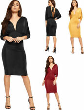 Women's Party Bodycon Dress with Batwing Sleeve Dresses