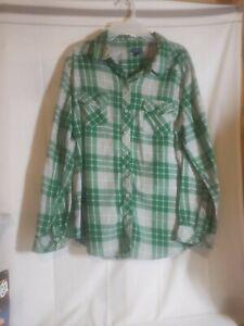 Harry Potter Slytherin Flannel Shirt Size Med