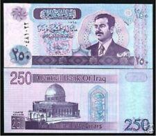 Iraq 250 Dinar 2002 Saddam Hussein (UNC) 全新 伊拉克 250第纳尔纸币 2002年