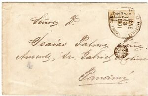 COLOMBIA - PANAMA - TUMACO - COVER W/ 10c PROVISIONAL LOCAL STAMP - 1901 RRR