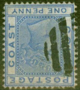 Gold Coast 1876 3d Blue SG45w Wmk Inverted Fine Used