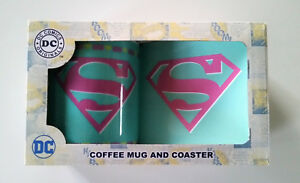 New DC COMICS ORIGINALS - SUPER MUM Coffee Mug / Tea Cup & Coaster Gift Set