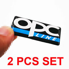 2 Ps High Quality Silver & Blue OPC Line ABS Badge Decals Sticker For VAUXHALL