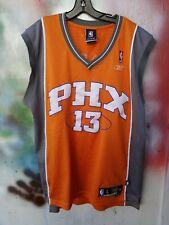 Reebok Steve Nash Phoenix Suns Basketball Sewn Jersey #13 Size L Length +2