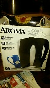 Aroma Eletric Water Kettle black unit with box