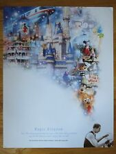 '03 Walt Disney World 100 Years of Magic Celebration KINGDOM Poster MICKEY MOUSE