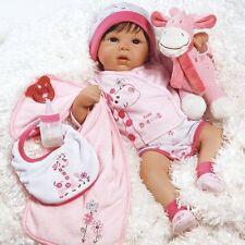 Realistic Newborn Baby Doll Girl Pink Lifelike Alive Dress 10 Piece Ensemble Set