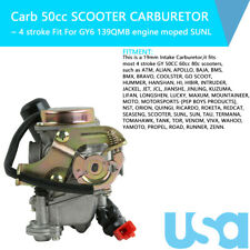 139QMB Carburetor fit for GY6 50CC 49CC 4 Stroke Scooter 18mm Intake Manifold US