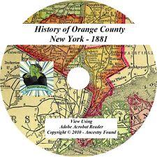 1881 History & Genealogy of ORANGE County New York NY