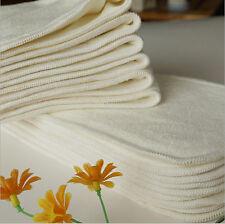 Insert Soaker Cloth Diaper Doubler Organic Bamboo Cotton Fleece Booster pad 10X