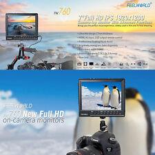 7'' 1920x1200 Feelworld FW-760 Full HD Flim Camera Video Field IPS Monitor HDMI