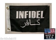 12x18 INFIDEL FREE from tyranny and oppression 2-SIDED Super-Poly FLAG*USA MADE