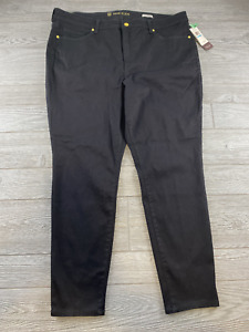 Anne Klein Womens Black High Rise Skinny Jeans Pants Size 20W New NWT