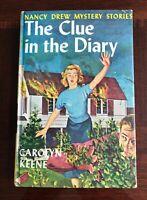 NANCY DREW #7: THE CLUE IN THE DIARY by Carolyn Keene 1962 Book Club Printing