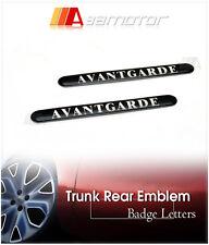 x2 Mercedes Benz AVANTGARDE AMG 63 Fender Side Emblem Letter Badge Decal Letters