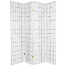 "4 & 3 Panel Wood Room Divider Screen Shoji White 71"" H"