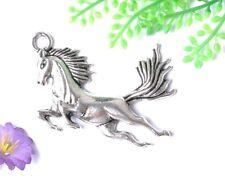 10PCS tibetan silver horse charm pendants 45X32MM SH824