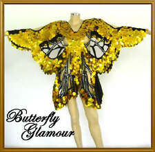 GOLD SEQUIN Cover up Drag Queen butterfly Dance dress