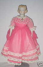"""15"""" Nice bisque repro with molded hair - well dressed by Frances Reedy Vgc"""