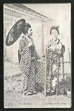 2 Geishas Costume Parasol Russian edition Japan 1910