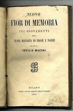 Cecilia Macchi # NUOVO FIOR DI MEMORIA PEI GIOVANETTI # G.Gnocchi 1864 *R