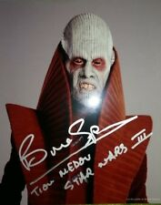 STAR WARS Revenge of the Sith BRUCE SPENCE Tion Medon ORIGINAL SIGNED AUTOGRAPH