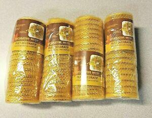 *NEW*4 Rolls~Golden/Yellow 6in x 5 yd Deco Mesh