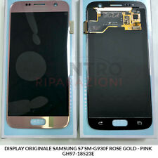 DISPLAY LCD TOUCH SCREEN ORIGINALE SAMSUNG GALAXY S7 SM-G930F ROSA PINK GOLD
