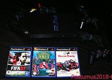 PS 2 Konsole (Playstation 2) + 3 Games + Zugabe Gamester Lenkrad