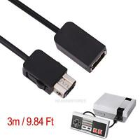 3m/9.8FT Black Extension Cable Cord For Nintendo Classic Mini NES Controller