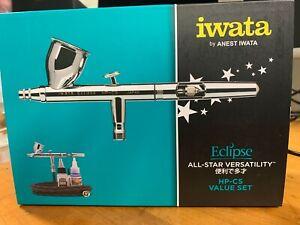 IWATA Airbrush HP-CS Eclipse Bonus Value Set NEW - US SELLER