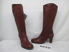 BLONDO CANADA Brown Leather Zip Knee High Heel Boots Size 9 M Style 1944-13