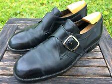 """Vintage Mens Florsheim """"Imperial Quality""""  Black Monk Strap Dress Shoes 11 C"""