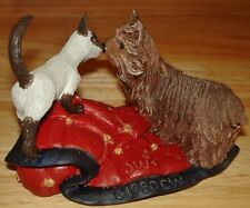 The Bronze Menagerie Kissin Cousins Figurine Playmates Collection Dog & Cat