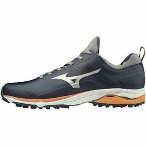 MIZUNO Shoes WAVE CADENCE Wide Spikeless 51GM1970 Navy Orange US11(29cm)UK10
