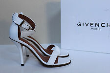 New sz 6 / 36 Givenchy Plara White Leather Open Toe Ankle Sandal Shoes