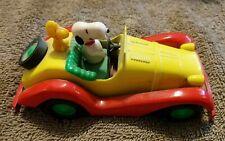 Aviva Peanuts Snoopy Vintage Die Cast Yellow Red Car Jalopy 1965