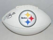 LE'VEON BELL AUTOGRAPHED SIGNED PITTSBURGH STEELERS WHITE LOGO FOOTBALL JSA