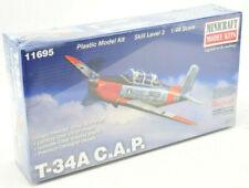 "Minicraft Beechcraft ""CAP"" T-34A Mentor 1/48 Plastic Model Plane Kit 11695"
