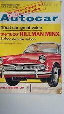 AUTOCAR Magazine 9/11/1962 Test Hillman Super Minx, Honda Sports Car, Turin Show