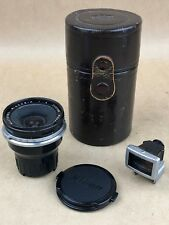 Nikon F 2.1cm f/4  Nikkor-O 21mm Mirror up lens & Finder Nippon Kogaku Japan