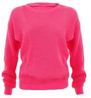 Nuevo De Mujer Extragrande Jersey Holgado Tejido Punto Suéter grueso