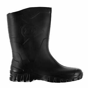 Dunlop Half Wellingtons Boots Mens Black Waterproof Gum Boot Footwear