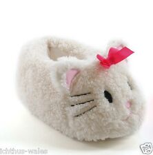 Kids Girls Plush 3D White Cat Slippers Boots Booties