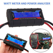 150a Digital Lcd Display Watt Meter Power Analyser System Solar Caravan Plug Kit
