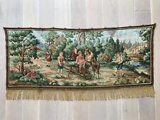 Vintage Wandteppich / Gobelin mit Bauernmotiv, ca. 117 x 49cm