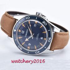 41mm Corgeut Schwarz dial Saphir miyota Automatisch Mechanisch Herren mens Watch