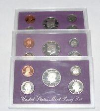 United States Mint Proof Set 1989 1990 1991 Lot
