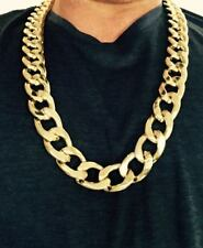 "Hip Hop 14K Gold GP Heavy Thick Large 20mm Miami Cuban Link 30"" Chain Necklace"